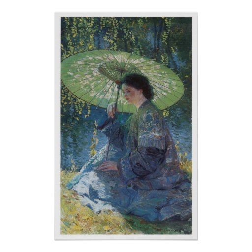 The Green Parasol, 1909 Guy Rose Posters