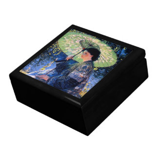 The Green Parasol Trinket Box