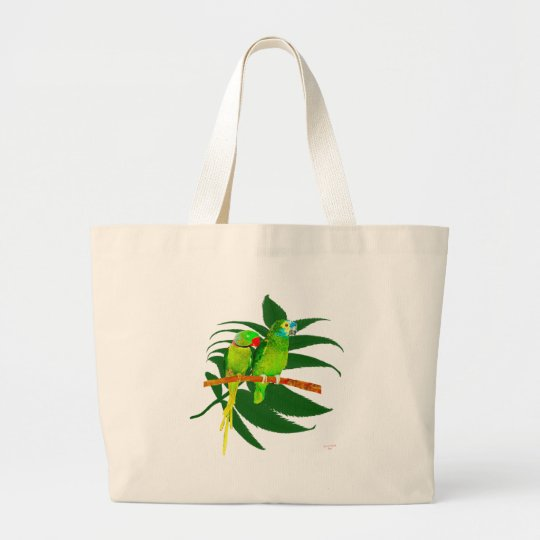 The Green Parrots Gifts Large Tote Bag