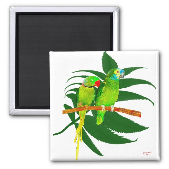The Green Parrots Gifts Magnet