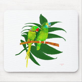 The Green Parrots Gifts Mouse Pad