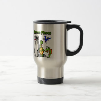 """The """"Green Pieces"""" gang by Drew Aquilina Travel Mug"""