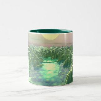 The Green Planet Two-Tone Coffee Mug