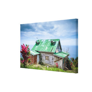 the green roof canvas print