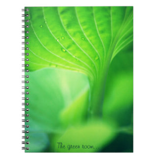The green room bloc de notas note book