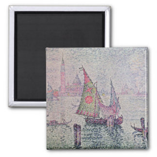 The Green Sail, Venice, 1904 2 Inch Square Magnet