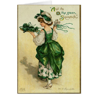 The Green Shamrock St. Patrick's Day Card