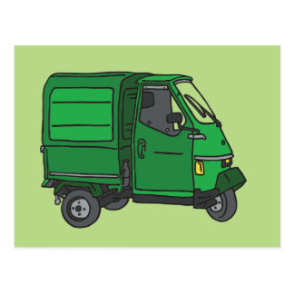 The Green small transporter (tricycle) Postcard