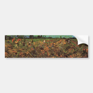 The Green Vineyard by Vincent van Gogh Car Bumper Sticker