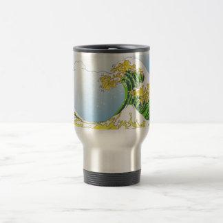 The Green Wave by RyuNeko-Artz Coffee Mug