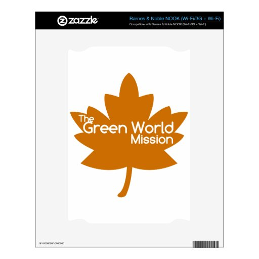 The Green World Mission NOOK Decal
