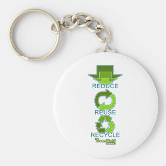 The Green World Mission - Reduce, Reuse, Recycle Keychain