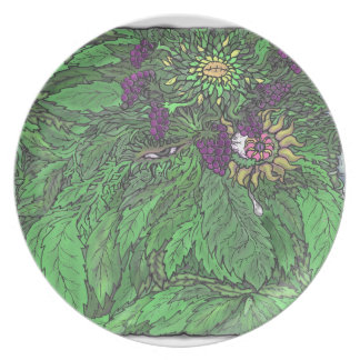 The Greenman TEO.png Melamine Plate