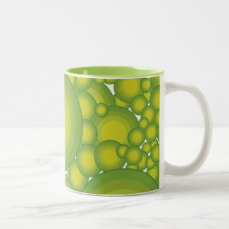 The Greens bubbles Two-Tone Coffee Mug