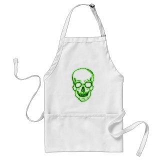 the Greens head skull green skull Apron