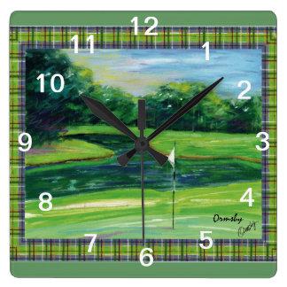 The Greens - wall clock