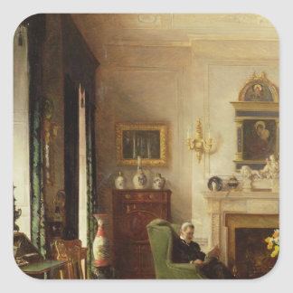 The Grey Drawing Room Square Sticker