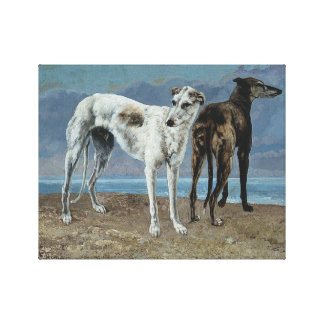 The Greyhounds of the Comte de Choisel Canvas Print