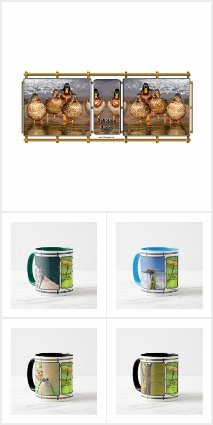 The Grid Mug Art & Nature Series Coffee Mugs