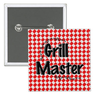 The Grill Master w/Picnic Table & Ants Pinback Buttons