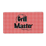 The Grill Master w/Picnic Table & Ants Shipping Label