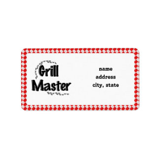 The Grill Master w/Picnic Table & Ants Address Label