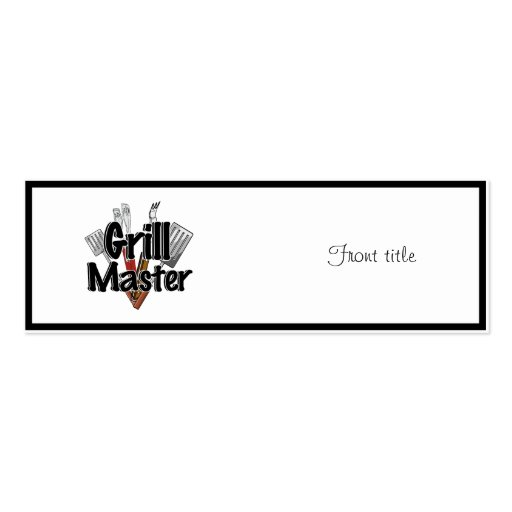 The Grill Master with BBQ Tools Business Card Templates