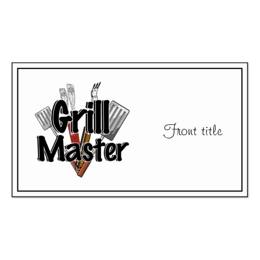 The Grill Master with BBQ Tools Business Cards