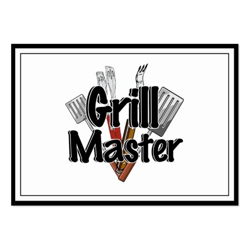 The Grill Master with BBQ Tools Business Card