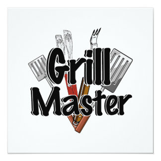The Grill Master with BBQ Tools Card