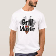 The Grill Master with BBQ Tools T-Shirt
