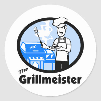 The Grillmeister Classic Round Sticker