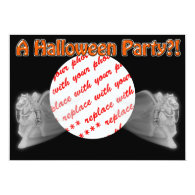 The Grim Reaper Ride Halloween Photo Frame 5x7 Paper Invitation Card