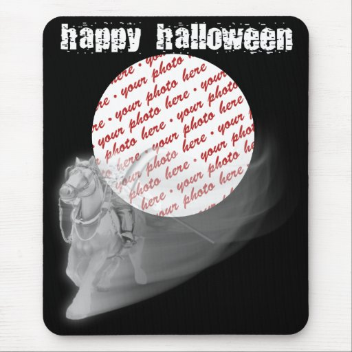 The Grim Reaper Ride Halloween Photo Frame Mouse Pads
