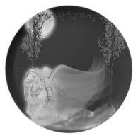 The Grim Reaper Rides Again Melamine Plate