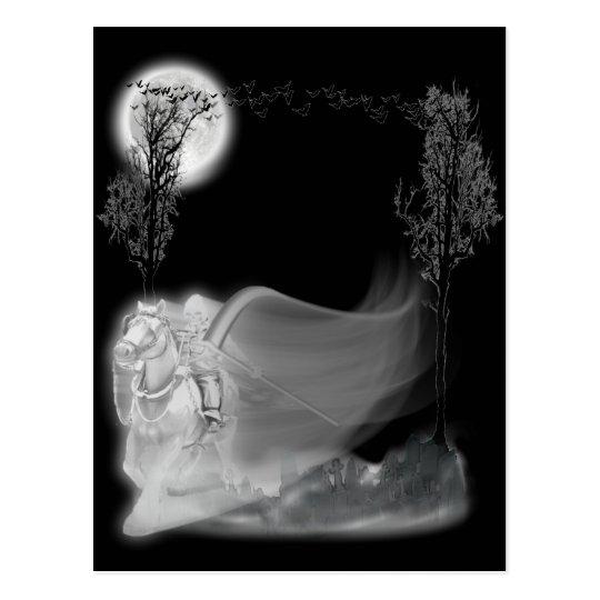 The Grim Reaper Rides Again Postcard