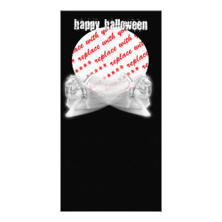 The Grim Reapers Ride Halloween Photo Frame Card