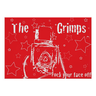 THE GRIMPS rock your face off! Poster