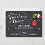 """The Grinch Chalkboard Birthday<br><div class=""""desc"""">Invite all your family and friends to your Grinch themed Birthday Party this year with these cute Dr. Seuss chalkboard invites. Personalize by adding all your party details.</div>"""