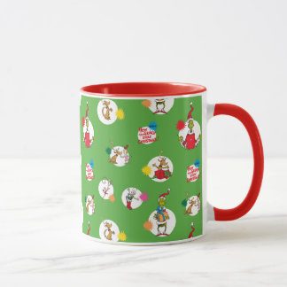 The Grinch | Christmas Dot Pattern Mug