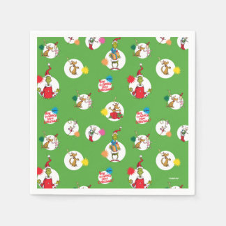 The Grinch | Christmas Dot Pattern Napkin