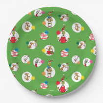The Grinch   Christmas Dot Pattern Paper Plate