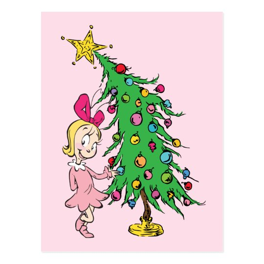 How The Grinch Stole Christmas Cindy Lou Cartoon.The Grinch I Ve Been Cindy Lou Who Good Postcard