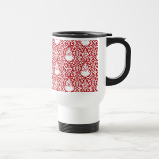 The Grinch | Red Damask Pattern Travel Mug
