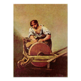 The grinder by Francisco de Goya Posters