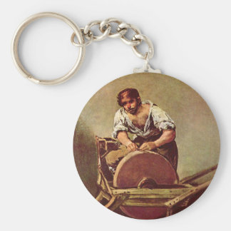 The grinder - Francisco de Goya Keychain