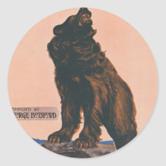 The Grizzly Bear Rag Classic Round Sticker