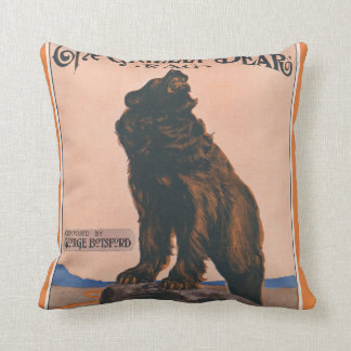 The Grizzly Bear Rag Pillow