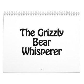 the grizzly bear whisperer calendar