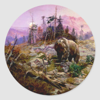 The Grizzly Classic Round Sticker